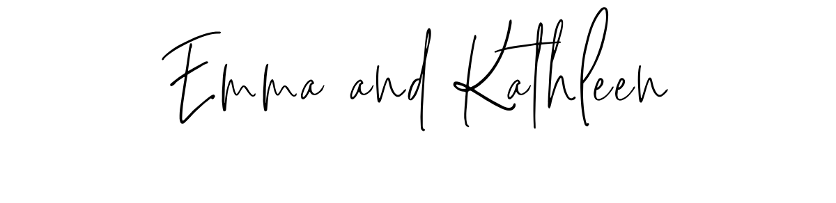 Emma and Kathleen signatures