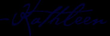 Kathleen's signature