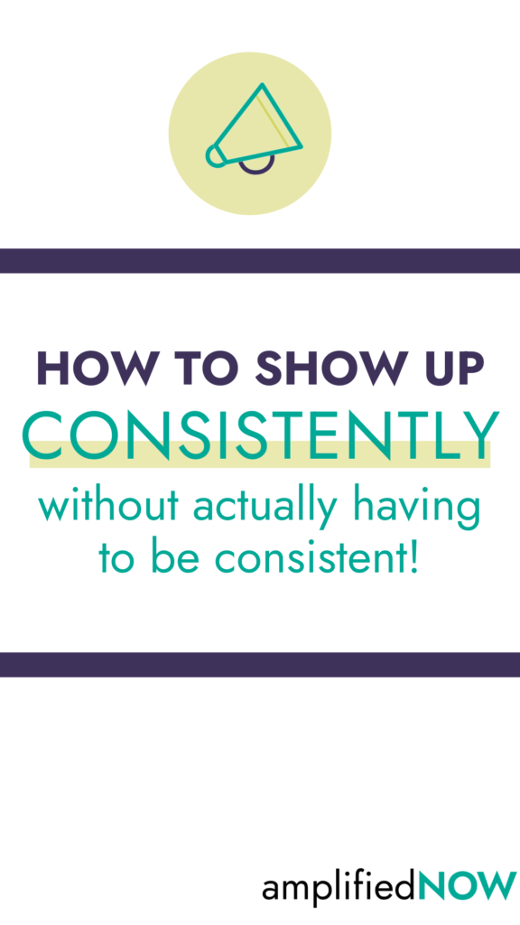How to show up consistently without actually having to be consistent