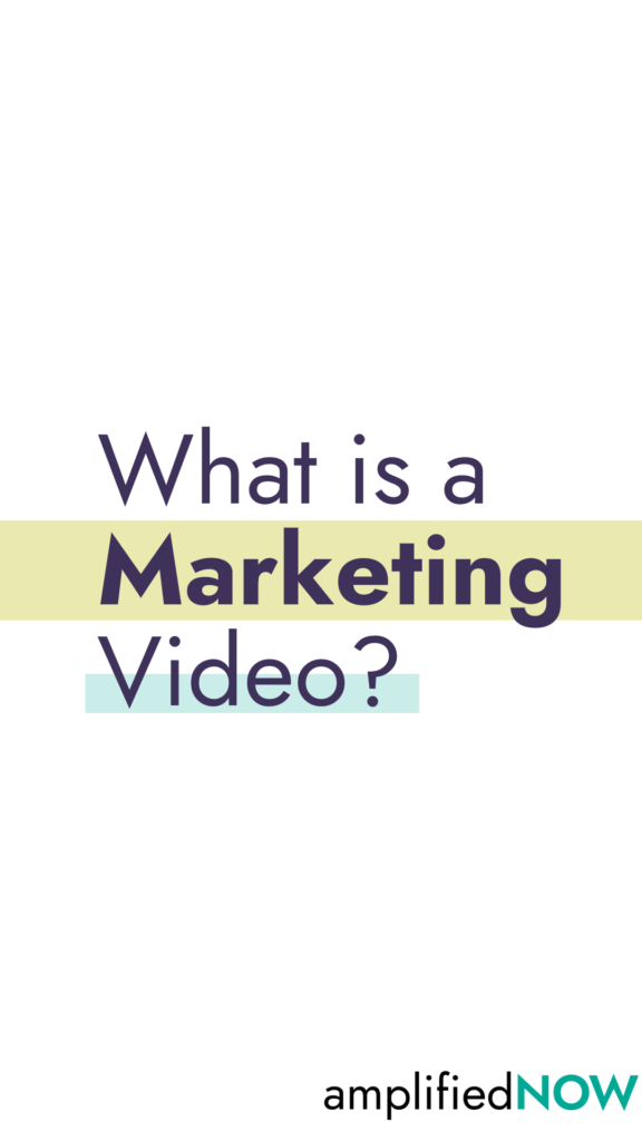 What is a marketing video?